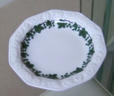 ROSENTHAL CLASSIC ROSE PATTERN BUTTER PAT DISH - GREEN BORDER ON WHITE