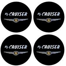 4 adhésifs sticker logo chrome CHRYSLER PT CRUISER Tous Diamètres centre jantes