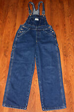 Vintage Levis Two Horse Brand Bib Overalls White Tab Denim Jeans Size M31