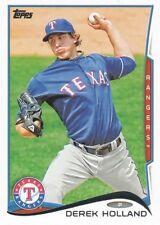 2014 Topps #655 Derek Holland Texas Rangers
