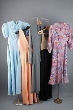 Vtg 30s Lot of 5 Women's Dresses AS-IS Rayon Cotton Chiffon 1930s #1062