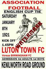LUTON TOWN - VINTAGE 1920's STYLE MATCH POSTER