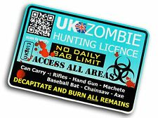 Drôle de zombie hunter licence design pour apocalypse camper van voiture camion autocollant