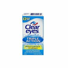 Clear Eyes Lubricant Redness Reliever Eye Drops - Triple Action - 0.5 oz