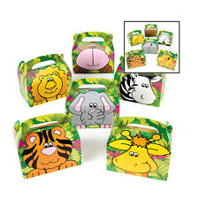 Zoo Animal Safari Jungle Birthday Party Favor Boxes Treat Gift Loot Set of 6