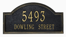 Whitehall Providence Arch Large Classic Address Plaque Estate-Size Sign 2 Mounts