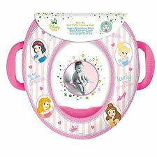 Disney Princess Training Toddlers Padded Pink Soft Toilet Seat With Handles