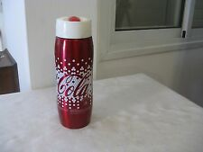 COLLECTIBLES COCA COLA THERMOS, RED/WHITE, 2 CUPS, MADE IN CHINA.