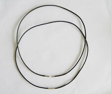 "Lot 10pcs 2mm Black Leather Cord 20"" Choker Necklace Chain Charm Findings String"
