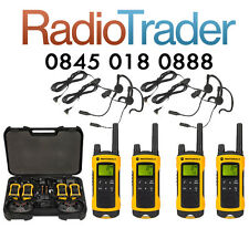 MOTOROLA TLKR T80 EXTREME QUAD PACK WEATHER PROOF PMR446 WALKIE TALKIE TWO WAY