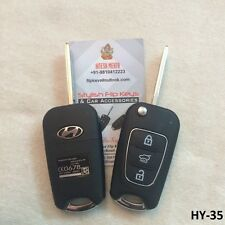 Modified Flip Key Shell For Hyundai i20 Old models-Black