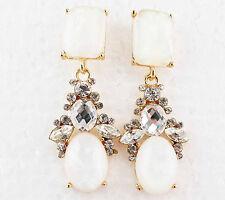 Bohemia style Handmade Crystal Rhinestone Ear Drop Dangle Stud Earrings 57mm 156