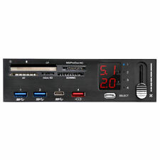 Silverstone SST-FP59B 5.25inch Bay Fan Controller, Card Reader, 3 x USB3.1 Hub