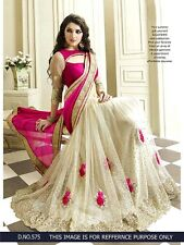 Bollywood Indian Partywear Saree Designer Ethnic New Pakistani Sari Women f