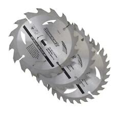 3 PIECE TCT CIRCULAR SAW BLADE SET 135 mm  x 12.7 - 10mm ring 16, 24 + 30 teeth