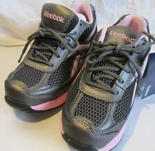 Reebok Womens Key Player Steel Toe Shoes Sneakers Size 7.5 Grey/Pink RB164 NWT