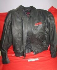Highlander TV Show Mens Black Leather Bomber Jacket Large w/ Embroidered Logo