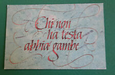 C4   CARTOLINA POSTCARD SERIE ANTICHI PROVERBI DELLE DOLOMITI 1985