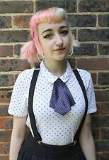 FRENCH CRAVAT KAWAII JAPAN SCHOOL GIRL INDIE GRUNGE COSPLAY PRE-TIED BOW TIE