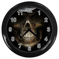 "Dark Skull Round Large Wall Clock (Black) size 10"" Collection Gifts New Year"