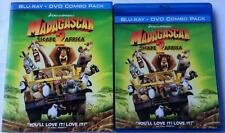 RARE OOP MADAGASCAR ESCAPE 2 AFRICA BLU RAY DVD TARGET EXCLUSIVE + SLIPCOVER