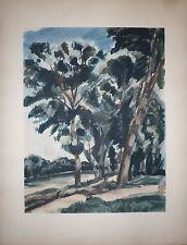 André Dunoyer de Segonzac Lithographie art vivant Pochoir Larousse Jacomet 1930