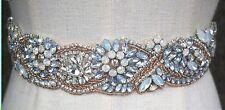 Wedding Belt - Rose Gold Opal Crystal Wedding Sash Belt