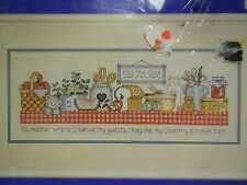 1992 J & P Coats counted cross stitch My Country Kitchen Sampler Kit