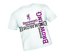 "BROWNING FISHING  T-SHIRT WHITE WITH LARGE LOGO SIZE MEDIUM 36"" APPROX"