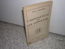 1950.honnêteté du lit conjugal / Paul Chanson.sexologie