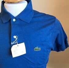 NWT NEW VINTAGE IZOD LACOSTE COLLECTION 1/2 PATRON BLUE POLO 100% COTTON WPL1100