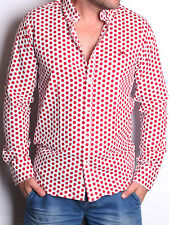 New Harmont & Blaine Casual shirt ,Dress Shirt  WHITE & RED SLIM  FIT SIZE-2XL