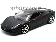 HOT WHEELS T6921 FERRARI 458 ITALIA COUPE 1/18 DIECAST MODEL MATTE BLACK