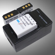 Mains Charger +2x Battery NP-85 NP85 for Fuji FinePix Cameras L240 SL260 SL280
