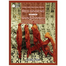 3Pcs Red Ginseng Lebelage Natural Mask Facial Essence Sheet Pack Korean Beauty