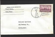 EDAN, IDAHO COVER,1938, 3CT ARMY COMEMMORATIVE, JEROME CO. 1912/OP.