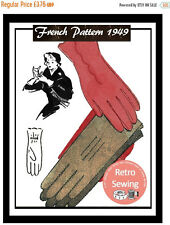 1940s Ladies Gloves Vintage French Pattern