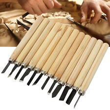 12Pcs Wood Carving Hand Chisel KNIFE Tool Set Woodworkers Gouges