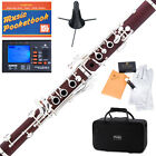 NEW SILVER PLATED KEY ROSE WOOD Bb CLARINET~Italian pad