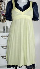 Noa Noa Tunika Kleid dress Ginger Jersey M 38 bird gelb yellow stretch Modal