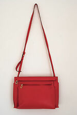 BRAND NEW LOEWE RED CALFSKIN LEATHER DOUBLE POUCH SHOULDER BAG ,1290$