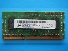 Micron 2GB 1RX8 PC3-10600S 204pin SODIMM MT8JSF25664HZ Memory