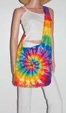 TIE DYE Shoulder Bag Rainbow PinWheel Boho Festival Bag Grateful Dead tye die