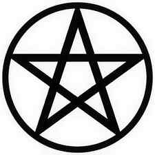 15 x Machine cut Pentagram Pentacle Halloween Pagan Solstice silhouette craft