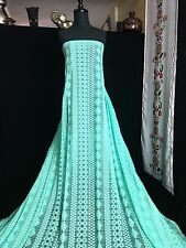 Lace Cotton Nylon Fabric - Sold by the Yard - Mint Green (GR-102)