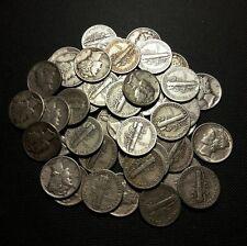 Lot of (5) asst. 10c Mercury Dimes, VG-XF, no Cull, [1/3 troy oz. silver]