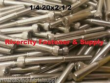 (10) 1/4-20x2-1/2 Socket Allen Head Cap Screw Stainless Steel 1/4 x 2.5""