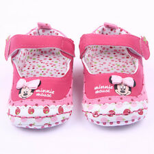 Baby Girls Minnie Dots Pram Shoes Crib Shoes Sneaker Prewalker Toddler Trainers