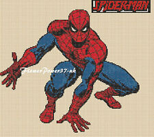 Cross stitch chart Spiderman 1 Flowerpower 37-uk GRATIS UK P & P