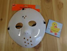 Scream 4 GHOST FACE MASK White Plastic with Black Fabric Hood Adult One Size